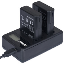 TOP-MAX® Dual USB Charger + 2 Pack EN-EL14 EN-EL14A Battery for Nikon Coolp