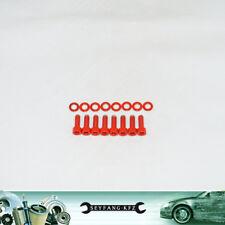 Ventildeckel Schrauben Edelstahl rot Opel Astra F C14SE 16NZR C16NZ X16SZ C16SE