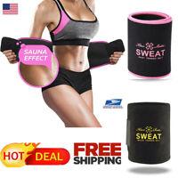 US Men Women Waist Trimmer Belt Sweat Wrap Tummy Weight Loss Fat Burner Slimming