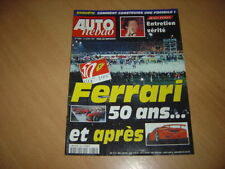 Auto hebdo N°1089 Les 50 ans de Ferrari.24H Nürburgring