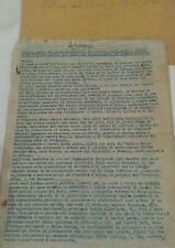 Originale Lettera aperta al Re d'Italia dal conte Carlo Sforza fascismo