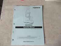 DEAD  HEAT DEADHEAT NAMCO  ARCADE game manual