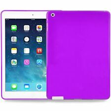 Slim Protective Silicone Cover Case For Apple iPad 2, iPad 3, iPad 4 in Purple