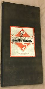 Antique Vintage Monopoly Board Game - Board Only patent 3796/36 Pre War 1930's