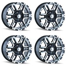 17x8 Ion 179 6x5/6x127 10 Black Machined Wheels Rims Set(4)