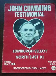 JOHN CUMMING HEART OF MIDLOTHIAN 1980  TESTIMONIAL PROGRAM