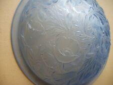 Vasque de plafonnier / lustre Art déco en verre moulé pressé bleu