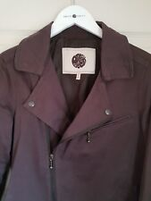 Pretty Green Storm Zip Through Biker Jacket Size XS / S