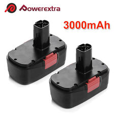 2x 19.2V 3.0Ah Battery for Craftsman C3 19.2 Volt 11375 130279005 Cordless Drill