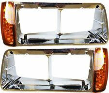 Freightliner FLD Headlight Bezel Led Turn Signal Light Left & Right Set 3 Wires