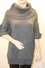 NEW BCBG MAX AZRIA M. HEATHERED GREY JERSEY KNIT SWEATER TOP CHW15469/B217 SZ XS