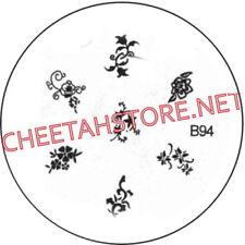 Stamping plaque pochoir B94 pour vernis Konad nail art