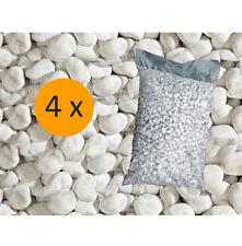 4 Sacchi da 25 kg ciottoli ornamentali di marmo Bianco Carrara 25/40 mm giardino