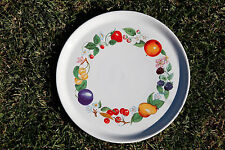 Grand plat rond fruits porcelaine REVOL / Large Ceramic Dish Made in France