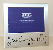 We Love Our Dad Photo Picture Frame Gift Silver Metal Father Daddy - F3505