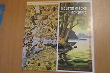 Reiseführer/ Prospekt  Holsteinische Schweiz auffaltbares Panorama  um 1950