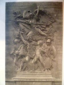Vintage Printed Postcard: PARIS -  Bas relief on Arc De Triomphe (Card.744)