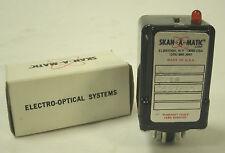 SKAN-A-MATIC T31101 PHOTOELECTRIC SENSOR W /5V DC 250mA, BNIB / NOS
