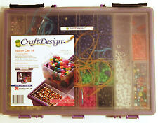 Storage Case by Craft Design filled with Assortment of Hundreds of Plastic Beads
