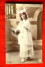 KOMLOSSY EMMA HAT W/HORNS 1906 ART TINTED POSTCARD