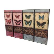 4 Pieces sets Wall Art Wall Hanging Prints Butterfly Wood Sign French Provincial