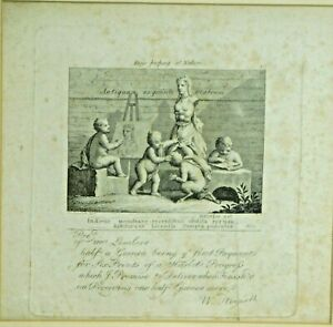After William Hogarth Boys Peeping Nature Harlots Progress Receipt ENGRAVING OLD