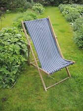 Vintage Deck Chair Seaside Camping Festival Garden Stripped fabric    (444)