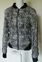 Betsey Johnson Performance Women's Leopard Print Puffer Jacket, Black, Size M