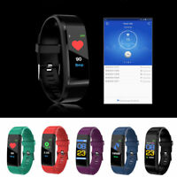 Smart Bracelet Wristband Watch Heart Rate Monitor Sleep Sports Fitness Tracker