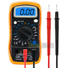 Digital LCD Voltmeter Ammeter Ohmmeter Multimeter Volt AC DC Tester Meter US
