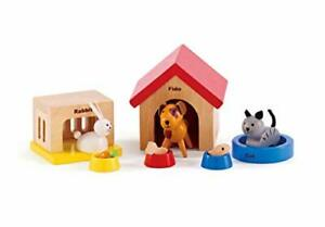 Family Pets Wooden Dollhouse Animal Set by Hape | Complete Your Wooden Dolls ...