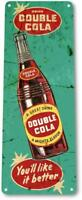 Double Cola Bottle Rust Soda Beverage Retro Rustic Cola Metal Decor Sign