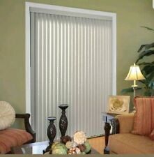 Hampton Bay Crown White . Vertical Louvers Blind- 3.5in W x 84in H #564 467 . 2