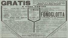 Y2020 I Dischi Fonoglotta - Pubblicità del 1931 - Old advertising