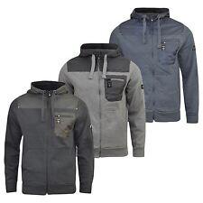 Mens Hoodie Firetrap Codel Zipped Hooded Quality Pullover Sweatshirt