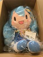 Hatsune Miku Yukimiku Big Fluffy Plush Doll SEGA