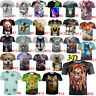 Women Men Fun Animals 3D Printing T-Shirt Casual Crew Neck Short Sleeve Top Tees
