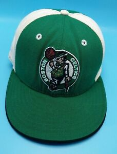 BOSTON CELTICS hat fitted green / white cap - size 7 1/4 L