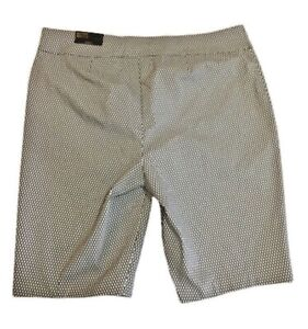 "Chicos  ""So Slimming"" Bermuda Shorts Brigette Dot Print Size 4 Women 20 $79"