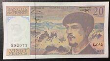 Billet 20 Francs Claude Debussy 1997 Série L.062 État NEUF
