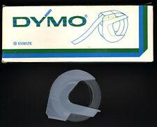 1x DYMO 6mm x 3,0M PRÄGEBAND SCHWARZ black matt Etiketten Embossing label tape .