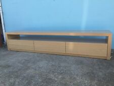 Local Made Tassie Oak Hardwood Timber Byron+ Lowline Tv Entertainment Unit