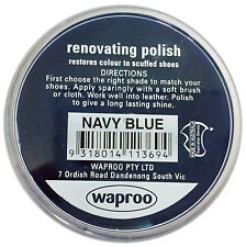 Navy Blue Shoe Polish Cream - Waproo Renovating Polish - Top Quility !!