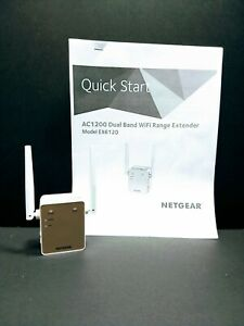 NETGEAR WiFi Range Extender EX6120-100NAS AC1200 Dual Band Wall Plug Design
