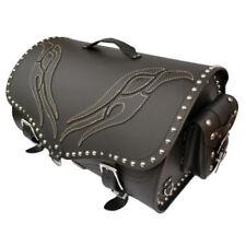 Bolsa color principal negro piel para motos