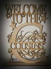 """Free standing Personalised """"WELCOME TO THE ?"""" 3mm MDF blank craft Plaque/sign"""
