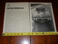 1967 PONTIAC FIREBIRD 400 ORIGINAL ARTICLE