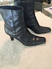 WESTIES WOMEN'S LEATHER MIDCALF BOOTS BLACK SIZE 7M - EXCELLENT CONDITION
