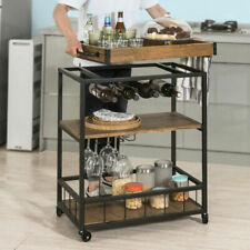 SoBuy FKW56-N Industrial Kitchen Serving Trolley with Removable Tray