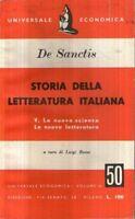 Storia della letteratura italiana Vol 5  De sanctis